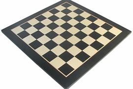 Glossy Black and Sycamore Chess Board