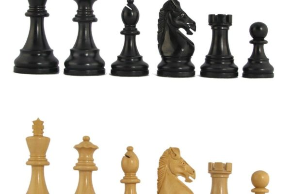 3 1/2″ MoW Ebony Hoplites Staunton Chess Pieces