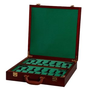 Fitted Briefcase Chess Box - Mahogany