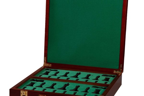 Fitted Briefcase Chess Box – Mahogany