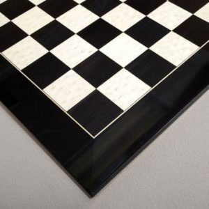 Blackwood and Bird's Eye Maple Chess Board - Gloss Finish