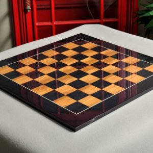 Blackwood and Olivewood Chess Board - Gloss Finish