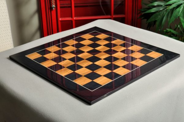 Blackwood and Olivewood Chess Board – Gloss Finish