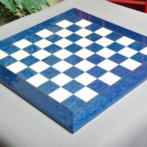 Blue Erable and Bird's Eye Maple Chess Board