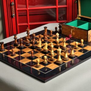 Burnt Golden Rosewood Grandmaster Pieces, Board and Box
