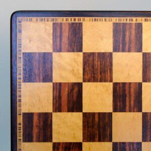 Ebony & Maple Veneer Chess Board with Beveled Edge