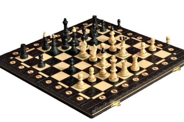 The Black Junior Chess Set