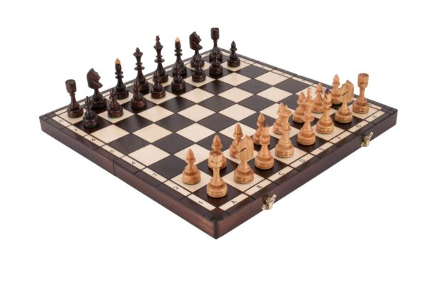 The Small Indian Wood Chess Set