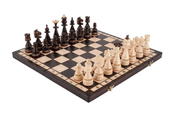 The Christmas Folding Wood Chess Set