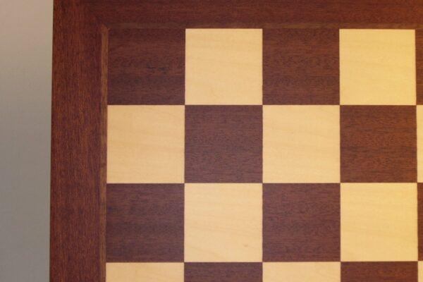 Mahogany and Maple veneer Chess Board