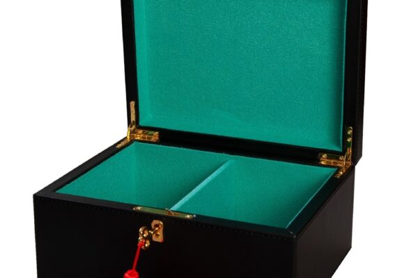 Premium Leather Chess Box – Black