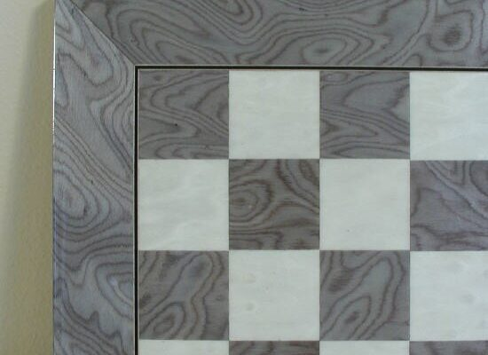 Grey and Ivory Briarwood Glossy Chess Board